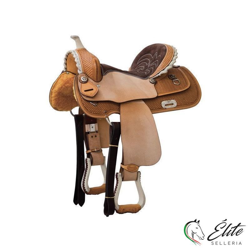 Monta western, Selle Western,  - vendita online SELLA BARREL DENVER MODELLO GONNA QUADRA - marca: Denver - Selleria Élite del cavallo - Palermo - Sicilia- Italia